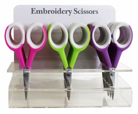 Ultra Sharp Embroidery Scissors Counter Display 18pc
