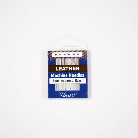 Klasse Leather Needle Asst-  80/12 (x2), 90/14 (x4)