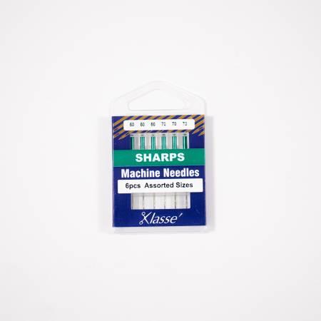 Klasse Sharp Machine Needles  Assorted Sizes  (x3 ea) 60/8, 70/10