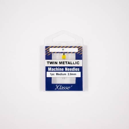 Klasse Twin Metallic 2.0mm/80- 1 Needle