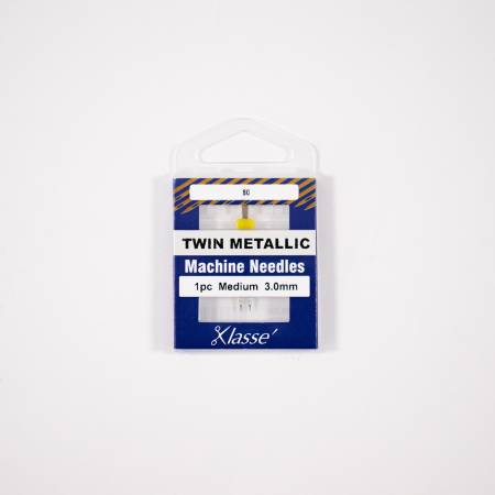 Klasse Twin Metallic  3.0mm/80 1 Needle