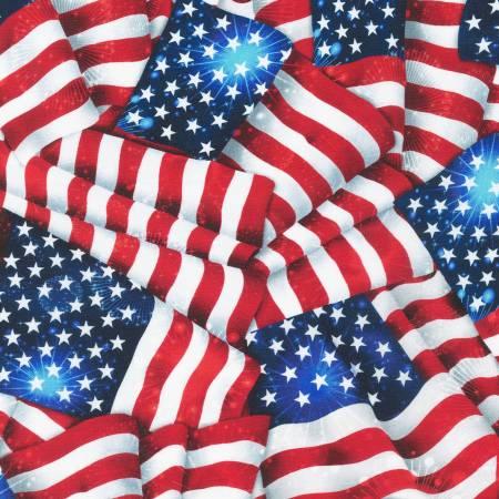Americana Patriots Digital 108in Wide Back
