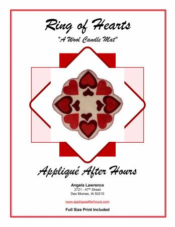 Applique After Hours - Ring Of Hearts Pattern