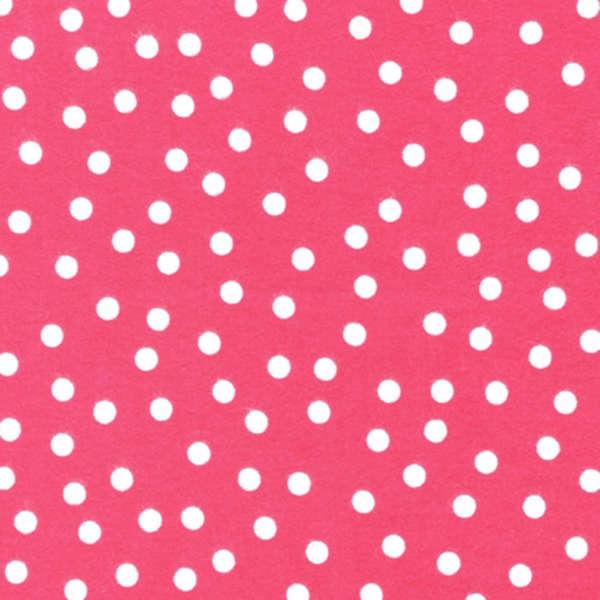 Hot Pink Dots Flannel