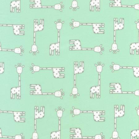 Flannel Giraffes Mint
