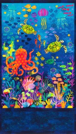 Ocean sealife PANEL AASD-18775-59 Octopus Garden by Amy Schimler-Safford
