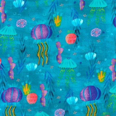 Pacific jellyfish AASD-18782-60 Octopus Garden by Amy Schimler-Safford