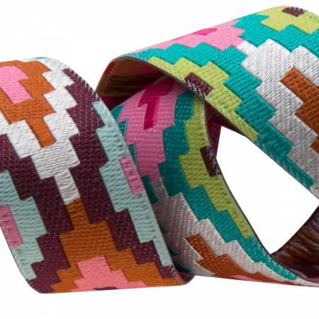 Spirit Weave/Pink Rust Aqua (7/8 Ribbon) (Amy Butler)