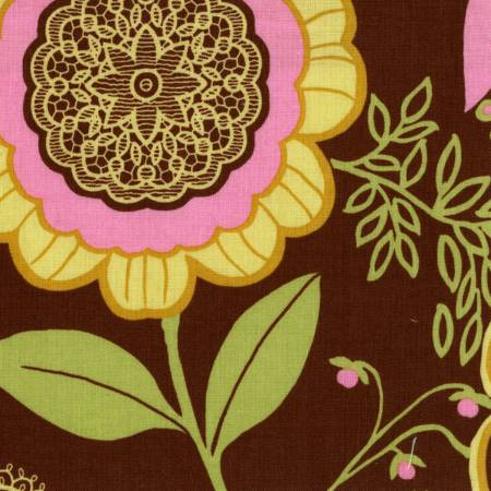 AB 19 Olive Lotus by Amy Butler for Free Spirit Fabrics
