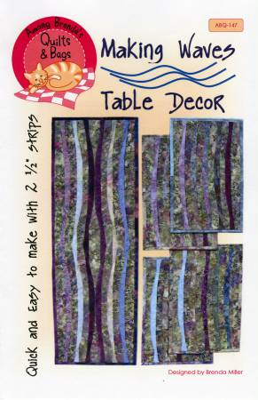 MAKING WAVES TABLE DECOR PATTERN ABQ147 Among Brendas Quilts and Bags