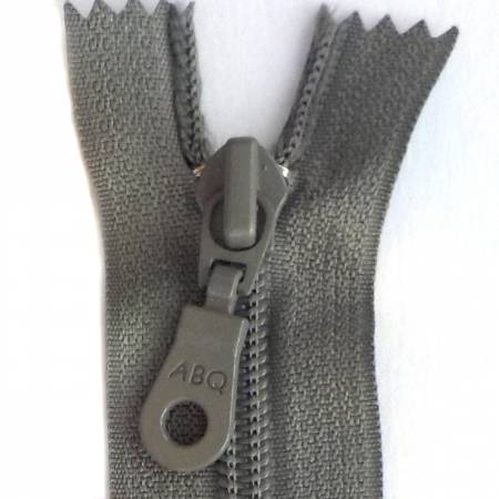 22in Zipper Charcoal Gray Closed Bottom