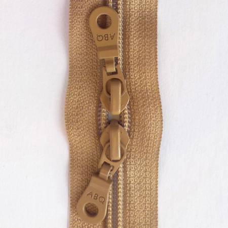 30in Zipper Natural Double Pull