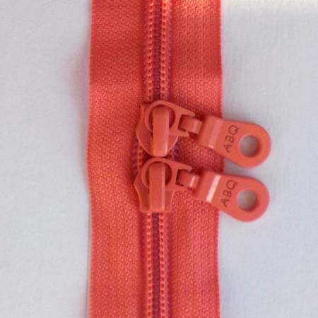 30in Zipper Sugar Coral Double Pull