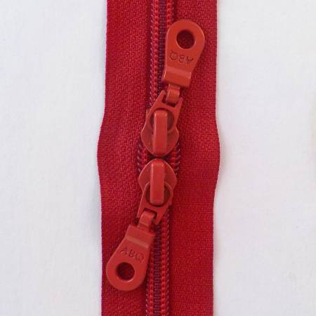 30in Zipper True Red Double Pull by Among Brenda's Quilts and Bags