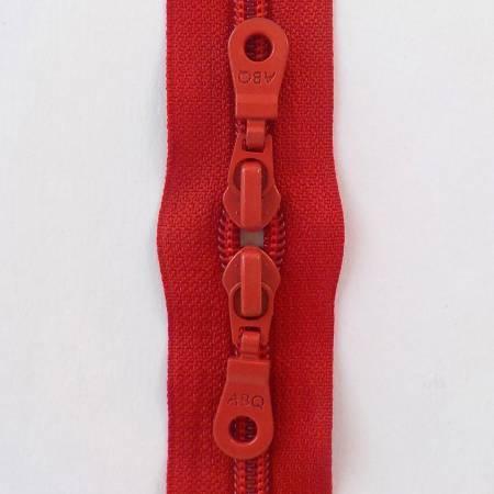 N- 30 Double Slide Zipper Barberry