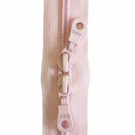 30in Zipper Crystal Pink Double Pull