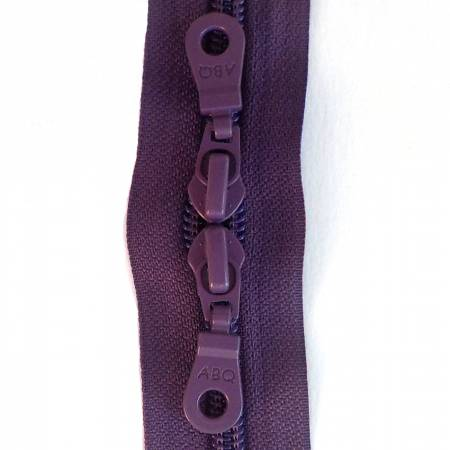 30in Zipper Wineberry Double Pull