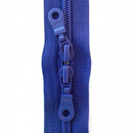 30in Zipper Royal Blue Double Pull