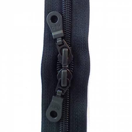 30in Zipper Dark Navy Double Pull