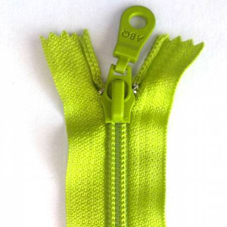14in Zipper Lime Green Closed Bottom