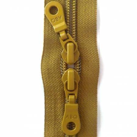 30in Zipper Bronze Green Double Pull