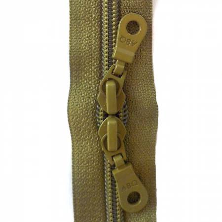 30in Zipper Olive Drab Double Pull