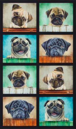 **Sweet Puppy Panel 24in repeat