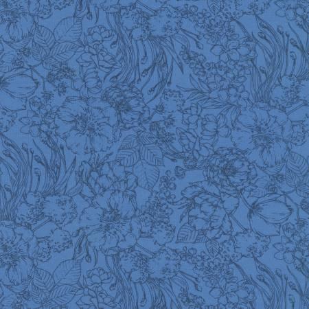 Blueberry Floral Cotton Lawn