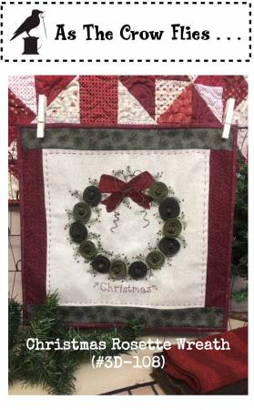 Christmas Rosette Wreath Pattern