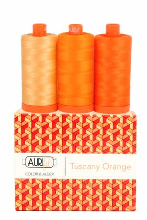 Aurifil 50wt Color Builder 3pc Set Tuscany Orange
