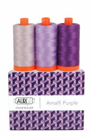 Aurifil Color Builder 3pc Set Amalfi Purple