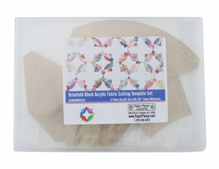 EPP Acrylic Fabric Cutting Template for Brimfield Pattern 4pc