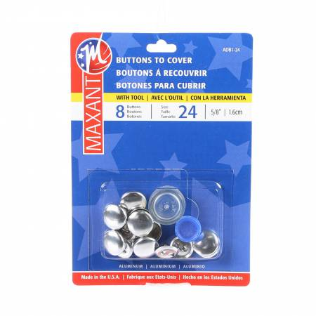 Maxant Cover Button Kit, sz 24, 5/8, 5 ct