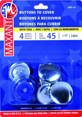 Maxant Cover Button Kit sz 45 , 1 1/8, 3 ct
