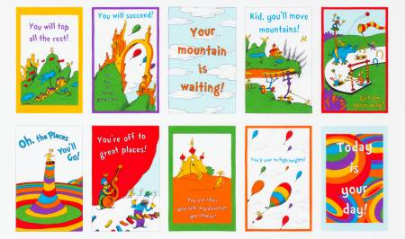 Dr Seuss Oh The Places You'll Go Panel ADE18386195
