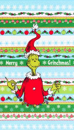 How the Grinch Stole Christmas panel 24 inches