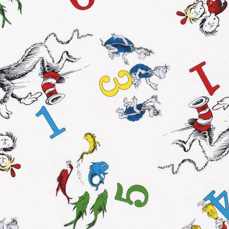 Dr. Seuss - 123 - White