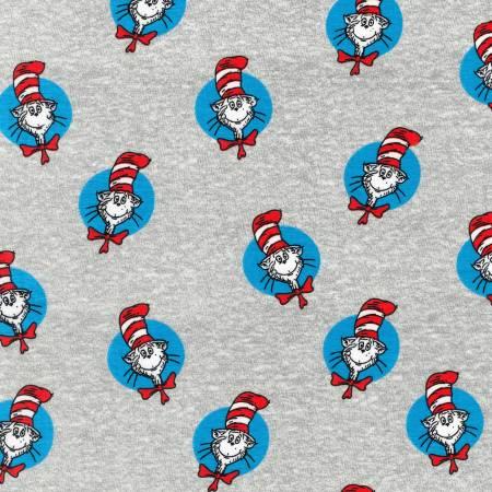 Robert Kaufman - Dr. Seuss The Cat In The Hat Knit