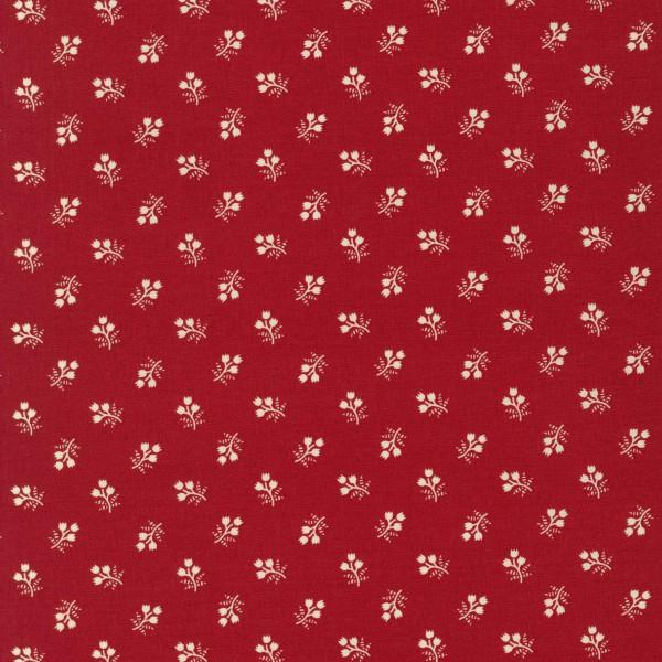 Red & Cream Floral Sprig 1930's Reproduction (#7052)