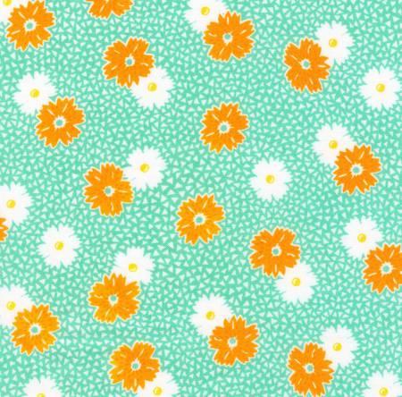 Flowers Fabric - Aloe Windowsill Garden Collection by Darlene Zimmerman for Robert Kaufman Fabrics