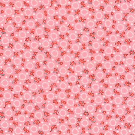 Floral Circles Fabric - Camellia Windowsill Garden Collection by Darlene Zimmerman for Robert Kaufman Fabrics