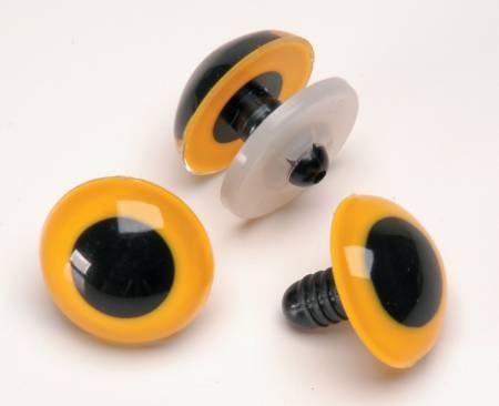 Animal Eyes w/washer Yellow 24mm
