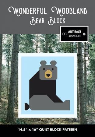 Wonderful Woodland Quilt Bear Block