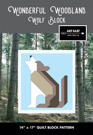 Wonderful Woodland Quilt Wolf Block