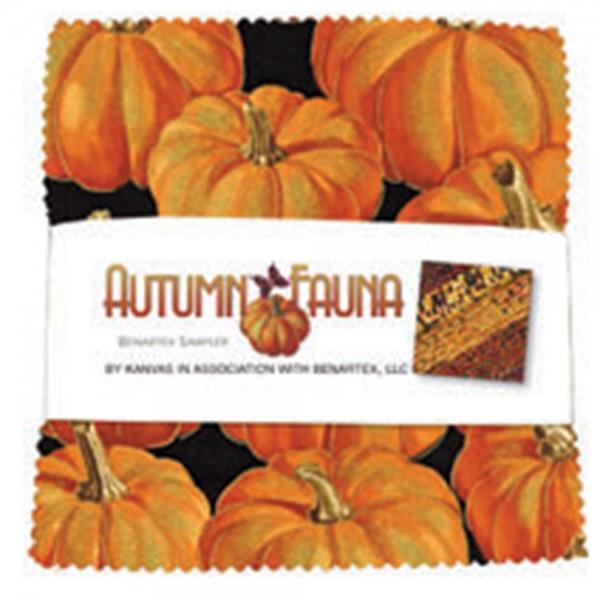 5in Squares Autumn Fauna 40pcs per bundle