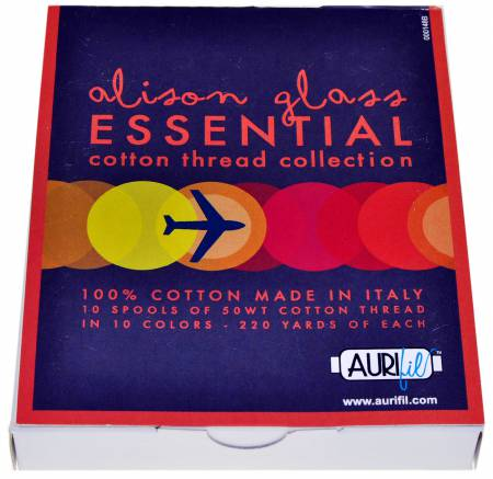 10 Small Spools Cotton 50wt Essential Collection