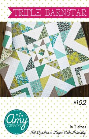 Triple Barnstar Quilt Pattern by Amy Gibson