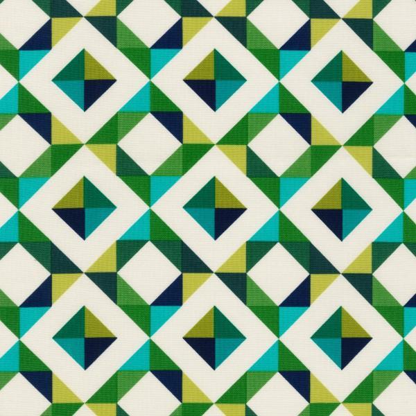 Bright Geo Pop Canvas, Emerald by Robert Kaufman Fabrics - AHK-15804-40