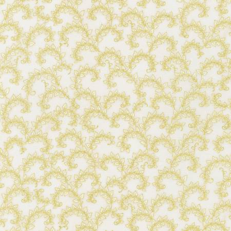 Florentine Garden - Foliage Vines - Ivory with Metallic
