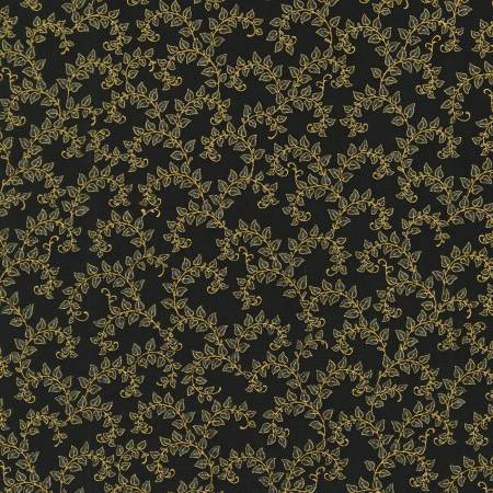 FAB Black Garden Floral w/Metallic